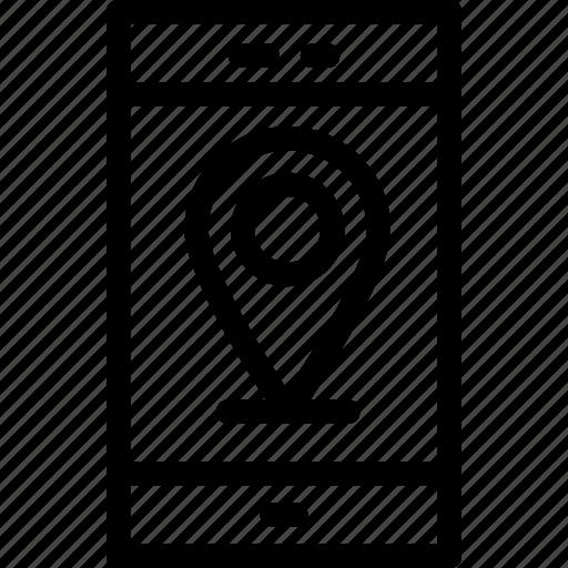 gps, map pin, mobile, mobile maps, navigation icon
