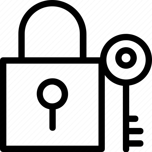 key, lock, login, safety, security icon