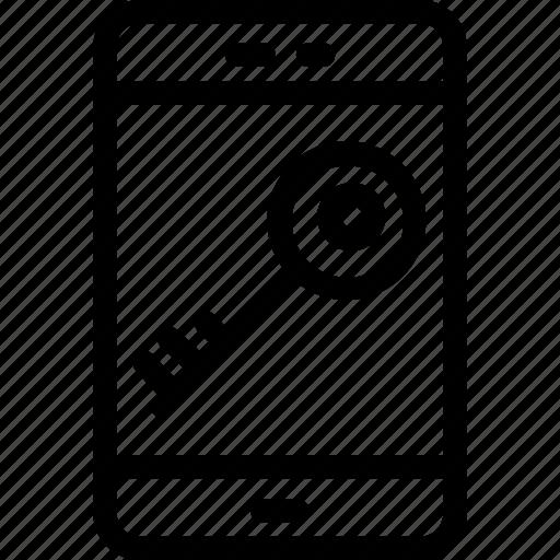 lock, mobile, mobile lock, password, security, smartphone icon
