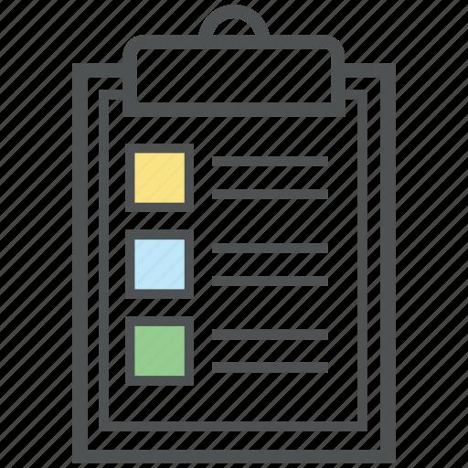 checklist, clipboard, documents, list, paper, plan list, shopping list icon