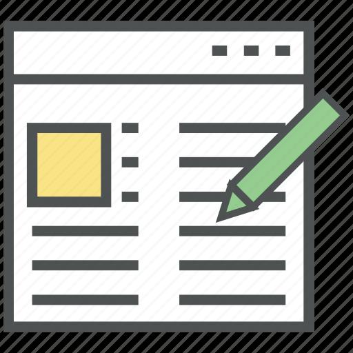 blog, blog management, blogging, create blogging, writing article icon