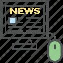 news article, news blog, news website, online article, online news, social media news icon