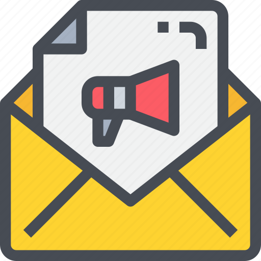 advertising, business, communication, email, letter, mail, marketing icon