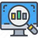 analytics, computer, computers, data, graph, seo, statistics icon