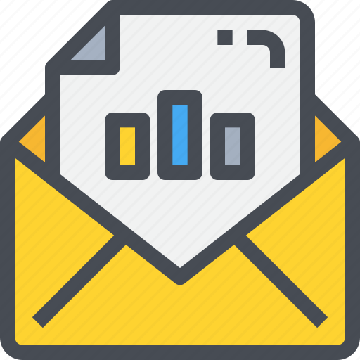 business, email, mail, marketing, message, report, statistics icon