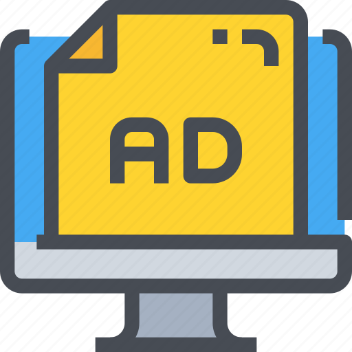 ad, advertising, banner, business, marketing, online, seo icon