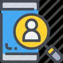 account, customer, interface, person, profile, smartphone, user icon