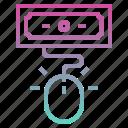 click, cost per click, cpc, digital marketing icon
