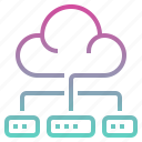 cloud, data, database, network, software, software and network icon