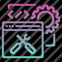 coding, optimization, programming, web optimization, website icon