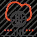 cloud, marketing, network, world