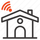 house, service, signal, wifi icon