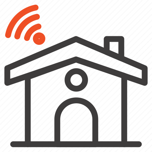 House, service, signal, wifi icon - Download on Iconfinder