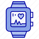 handwatch, heart, love, watch icon