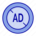 ad, blocker, digital icon
