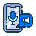 business, voice, advertising, radio, marketing, podcast, digital icon