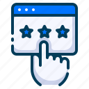 advertising, business, digital, feedback, marketing, rating, star icon