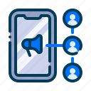 business, affiliate, advertising, marketing, network, connection, digital icon