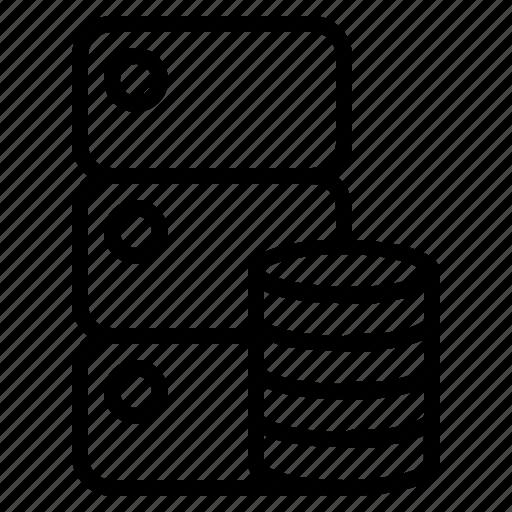 database, digital, marketing, server icon