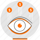 concept, digital, marketing, money, pay per view, strategy, view icon