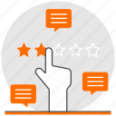 concept, digital, hand, marketing, rating, reviews, strategy icon