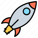 business, launch, missile, power, rocket, start icon
