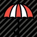 insurance, key, password, protection, umbrella icon