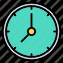 clock, timepiece, wait, wall icon