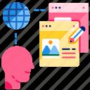 blogger, content, digital nomad, influencer, job, online, social media icon