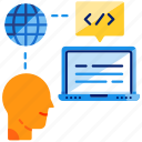 coding, developer, development, digital nomad, job, programming, software icon