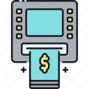 atm, atm fees, bank in, deposit, fees, withdrawal icon