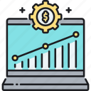 analytics, conversion, conversion rate optimizer, data, optimizer, rate, research icon