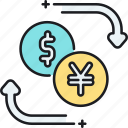 currency, currency exchange, exchange, foreign currency icon