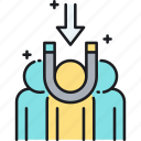 acquisition, customer, customer acquisition, customer retention icon