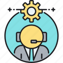 agent, call center, customer service agent, service, help, customer, customer service representative icon