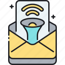 edm, electronic direct mail, email, email marketing, marketing, newsletter icon