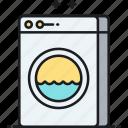 dryer, laundromat, laundry, washing machine icon