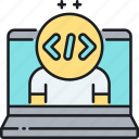 code, coding, programmer, programming icon
