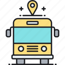bus, coach, public, public transport, school bus, transport, transportation icon
