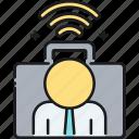 online job, remote, remote work, work icon