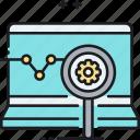 research, analytics, data, specialist, seo, analyst, seo specialist icon