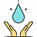 clean water, sanitation, water icon