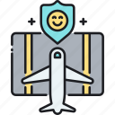 baggage insurance, flight insurance, insurance, travel, travel insurance icon