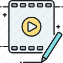 editor, video, video editing, video editor icon