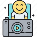 video log, video logging, vlogger, vlogging icon