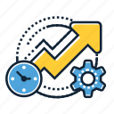 analytics, business, chart, growth, optimization, performance, productivity icon