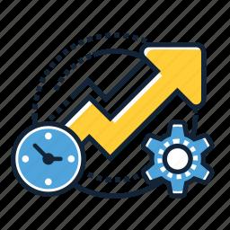 analytics, business, chart, growth, optimization, performance, productivity icon