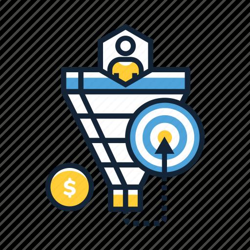analytics, business, funnel, growth, revenue, sales, strategist icon