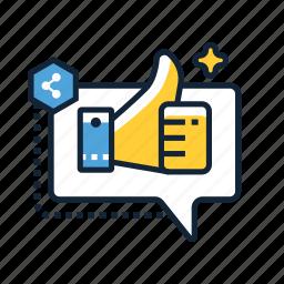 communication, interaction, marketer, media, multimedia, social, web icon