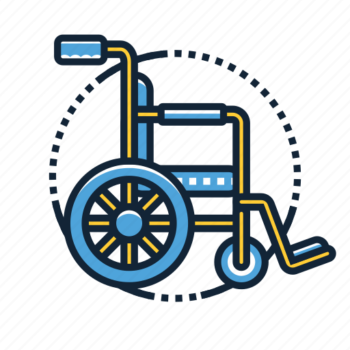 Wheelchair, emergency, handicapped, healthcare, hospital, medical, pharmacy icon - Download on Iconfinder